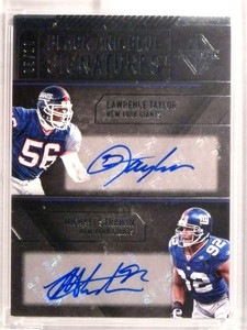 2017 Panini Majestic Lawrence Taylor Michael Strahan autograph auto #D5/10 *72477