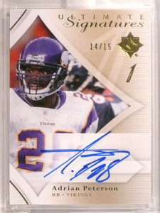 2008 Ultimate Collection Signatures Adrian Peterson autograph auto #D14/15 *72478
