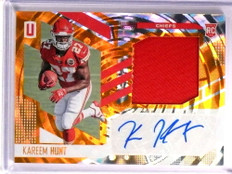 2017 Panini Unparalleled Kareem Hunt autograph auto patch rc rookie #d/49 *72486