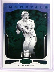 2017 Panini Certified Immortals Mirror Emerald Green Dan Marino #D2/5 *72560