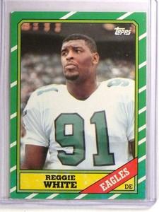 1986 Topps Reggie White rc rookie #275  *72399
