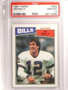 1987 Topps Jim Kelly rc rookie #362 PSA 10 GEM MINT Bills HOF *72447