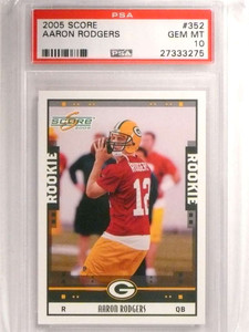 2005 Score Aaron Rodgers rc rookie #352 PSA 10 GEM MINT Packers *72456