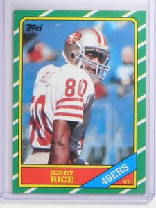 1986 Topps Jerry Rice Rookie RC #161 EX *64006