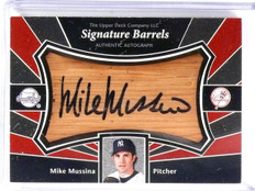 2004 Upper Deck Sweet Spot Signature Barrels Mike Mussina Autograph sp/64 *58259