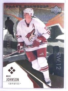 2003-04 UD Black Diamond Red Mike Johnson #D07/50 #169 *65858