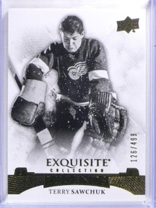 2015-16 Upper Deck Exquisite Collection Terry Sawchuk #D126/499 #37 *59404