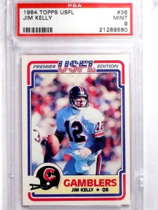1984 Topps USFL Jim Kelly rc rookie #36 PSA 9 MINT *63811