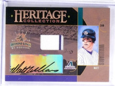 2005 Diamond Kings Heritage Collection Matt Williams Jersey Autograph #D/25 *582
