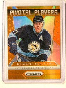 13-14 Panini Prizm Pivotal Players Orange Refractor Evgeni Malkin #D02/50 *41553