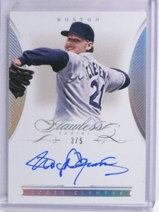 2016 Panini Flawless Signatures Roger Clemens Autograph auto #D3/5 #FSRC *60380