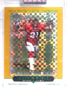 2005 Topps Chrome Gold Xfractors Antrel Rolle Rookie RC #D021/399 #192 *62543