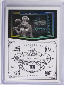 2011 National Treasures Frank Gifford Legend Century Gold #D10/10 #156 *49686