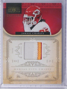 2012 Panini National Treasures Century Jamaal Charles 3clr patch #D05/49 *42437