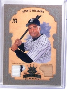 2004 Donruss Diamond Kings Silver Bernie Williams Bat Jersey #D08/25 #89 *59768