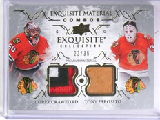 2016-17 UD Exquisite Material Esposito Crawford Patch Stick #D22/35 #ECCE *63970