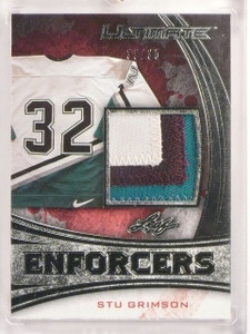 2015-16 Leaf Ultimate Enforcers Stu Grimson 3clr patch #D33/35 #UE-08 *53292