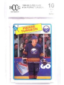 1988-89 O-Pee-Chee OPC Pierre Turgeron #194 rc rookie BCCG 10 MINT *63853