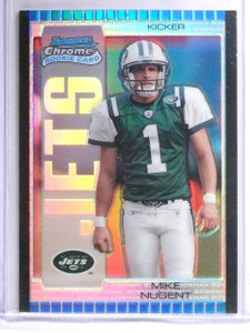 2005 Bowman Chrome Silver Refractor Mike Nugent Rookie RC #D05/50 #137 *62560