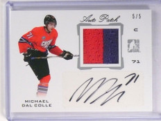 2014 ITG In The Game Michael Dal Colle autograph auto patch rc #D5/5 *50129