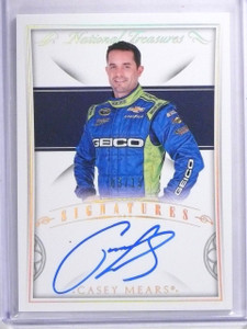 2016 National Treasures Signatures Casey Mears Autograph #D03/15 #SCM *64090