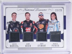 2016 National Treasures Danica Patrick Stewart Busch Harvisk Quad #D23/25 *64112