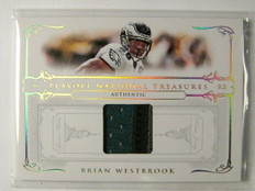 2007 National Treasures Brian Westbrook 3clr patch #D02/25 *30331