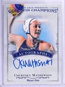 2016 Upper Deck Goodwin Champions Courtney Mathewson Autograph #ACM *61586