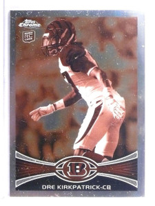 2012 Topps Chrome Sepia Refractor Dre Kirkpatrick Rookie RC #D02/99 #28 *62546