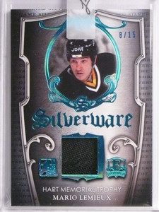 2016 Leaf Itg Enshrined Silverware Mario Lemieux jersey #D8/15 *55309