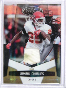 2010 Certified Mirror Gold Jamaal Charles patch #D22/50 *29409