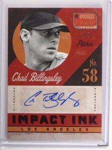 2013 Panini America's Pastime Impact Chad Billingsley autograph auto #D3/5 *4335