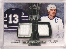 2015-16 Leaf Ultimate Dual Mats Sundin & Wendel Clark jersey #D25/35 *53266