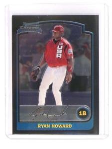 2003 Bowman Chrome Draft Picks Ryan Howard rc rookie #BDP138 *45353