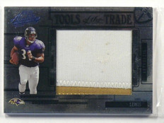 2005 Playoff Absolute Tools OF Trade Jamal Lewis Jumbo 2clr patch #D3/5 *41037