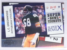 2010 Playoff Contenders Super Bowl Ticket Black L. C. Greenwood #D48/50 #23 *658