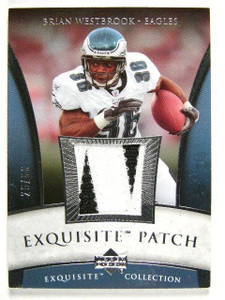 2006 UD Exquisite Brian Westbrook 2 color patch #D25/50 *27288