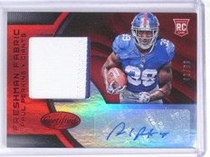 2016 Certified Mirror Red Paul Perkins Rookie Patch Autograph #D42/99 #232 *6062