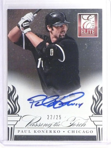 2014 Elite Passing Torch Paul Konerko & Jose Abreu autograph auto #D22/25 *49286