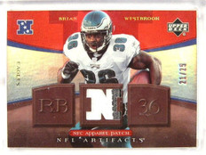 2007 Upper Deck Artifacts Brian Westbrook 2 color patch #D21/25 #NFC-BW *26388