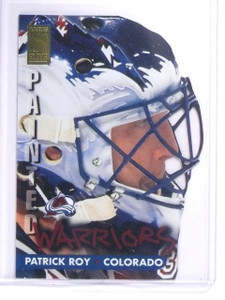 1995-96 Donruss Elite Painted Warriors Patrick Roy #D0412/2500 #1 *64483