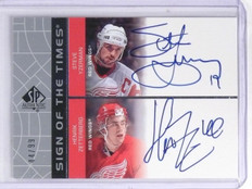 2002-03 SP Authentic Sign of the Times Yzerman Zetterberg Autograph #D44/99 *603