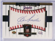2003 Upper Deck Sweet Spot Yankee Greats Lou Piniella autograph auto #YGLP *5803