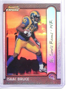 1999 Bowman Chrome Interstate Refractor Isaac Bruce #D089/100 #22 *59905