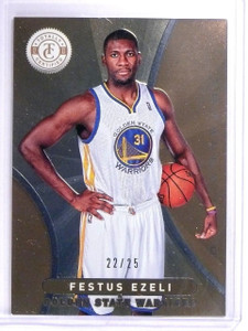 2012-13 Totally Certified Gold Festus Ezeli Rookie RC #D22/25 #284 *64387