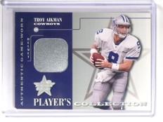 2001 Leaf R & S Player's Collection Troy Aikman helmet #D77/100 #PC-8 *52242