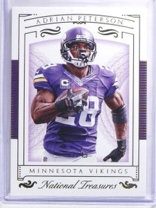 2015 Panini National Treasures Gold Adrian Peterson #D12/49 #55 *59890