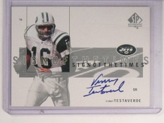 2001 Sp Authentic Sign Of The Times Vinny Testaverde autograph auto *52330