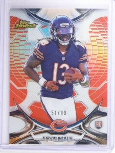 2015 Topps Finest Red Refractor Kevin White Rookie RC #D51/99 #110 *64684