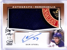 2016 Leaf Genesis Sam Steel autograph auto logo patch rc rookie #D1/6 *57355